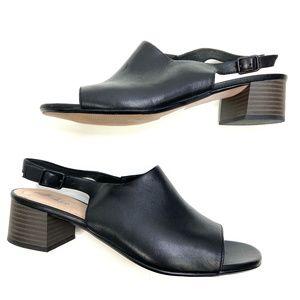 Clarks | Genuine Leather Black Sling Heel
